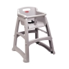 RUBBERMAID Sturdy Chair™ Youth Seat with Wheels - Platinum