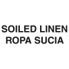 """RUBBERMAID Bilingual Label """"Soiled Linen"""" for Waste Containers - 7w x 10h"""