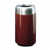 RUBBERMAID Open Top w/ Satin Aluminum Top Waste Receptacle - 15 Gal.