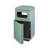 RUBBERMAID Covered Top w/ Front Door Waste Receptacle - 48 Gal.