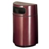 RUBBERMAID Half Round Open Front Waste Receptacle - 18 Gal.