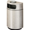 RUBBERMAID Fiberglass Half Round Open Front Ash/Trash Container - 18 Gal.