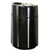 RUBBERMAID Fiberglass Half Round Open Top Ash/Trash Container - 18 Gal.
