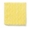 RUBBERMAID Commercial Microfiber Cleaning Cloths - Microfiber, Yellow, 12/Carton