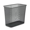 RUBBERMAID Commercial Steel Mesh Wastebasket - Rectangular, 7.5gal, Black