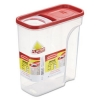 RUBBERMAID Modular Cereal Containers - Clear/Red