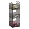 Safco Onyx™ Breakroom Organizers - 3 Compartments, 6 X 6 X 18, Steel Mesh, Black