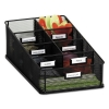 Safco Onyx™ Breakroom Organizers - 7 Compartments, 16 X8 1/2x5 1/4, Steel Mesh, Black