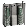 Safco Onyx™ Breakroom Organizers - 3compartments, 12.75x4.5x13.25, Steel Mesh, Black