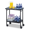 Safco Folding Office/Beverage Cart - Two-Shelf, 25w X 15d X 30h, Black