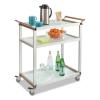 Safco Large Refreshment Cart - Three-Shelf, 150 lbs, Silver