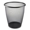 Safco Onyx™ Round Mesh Wastebaskets - Steel Mesh, 5 Gal, Black