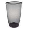 Safco Onyx™ Round Mesh Wastebaskets - Steel Mesh, 9 Gal, Black