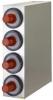 SAN JAMAR  EZ-Fit® Stainless Steel Beverage Dispenser Cabinet - w/ 4 Slot (C2410C )