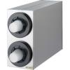 SAN JAMAR  Sentry® Stainless Steel Vertical Beverage Dispenser Cabinet - w/ 2 Tubes