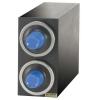 SAN JAMAR  EZ-Fit® Beverage Dispenser Cabinet - (2) C2410C w/Metal Finish Trim Rings