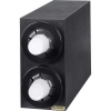 SAN JAMAR  Sentry® Beverage Dispenser Vertical Cabinet - 2 Black Trim Ring, 8 - 44 Oz.