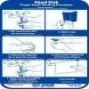 SAN JAMAR  Hand Washing Station Smart Chart -