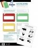 SAN JAMAR  Cut-N-Carry® Color-Coded Cutting Board Smart Chart - 4-Board