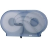 "SAN JAMAR  Twin Oceans® 9"" Double Roll Jumbo Toilet Tissue Dispenser - Arctic Blue"