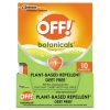 OFF!® Botanicals Insect Repellent - Box, 10 Wipes/Pack, 8 Packs/Carton