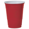 SOLO CUP Party Plastic Cold Drink Cups, 16 OZ - Red