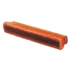 "SSS 18"" Orange Push Broom - Medium Sweep w/ 3"" Trim and Hardwood Block"