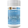 """SSS Glass Cleaner Wipes - 6""""x10.5"""", 6/70 CT"""
