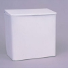 SSS RMC Sanisac Disposal, White Enamel - Wall Mount