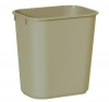 SSS Rubbermaid Deskside Small Wastebaskets - Beige, 13-5/8""