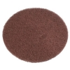 "SSS 6"" Brown Stripping Floor Pad - 10/CS"