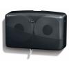 SSS Astoria Twin Jumbo Roll Tissue Dispensers - Black
