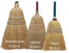 "SSS #26 Janitor Corn Broom - Handle: 38"" Wood"