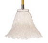SSS 4-Ply Cotton Wet Sta-Flat Cut-End Mop - Headband: Sta-Flat