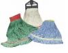 SSS Industrial Looped-End Green Wet Mop/Wide - Green