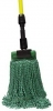 "SSS MicroTec 4-Ply Looped-End Wet Mop - 5"" HB, Green, Medium"