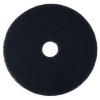 "SSS Black Stripper Floor Pad 7200 - 13"" Diameter"