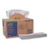 Tork® Industrial Cleaning Cloths - Handy Box, 1-Ply, Gray, 280/PK