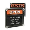 US STAMP Headline® Sign Double-Sided Open/Closed Sign -